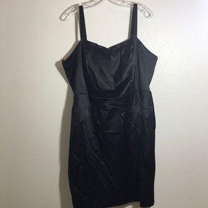 Torrid black satin dress with adjustable straps